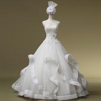 2014 New Arrival Up None Wedding Dress Vestidos De Noiva Qi In Wedding Luxurious Beading Dress Formal Sweet Tube Top Gownbridalk