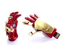 Free shipping Retail Avengers marvel iron man 3 Repulsor Hand USB Flash Drives with LED Flash Light pen drives memory 64gb