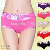 New arrival Women Peony Briefs High Waist Slimming Buttock Shape abdomen 211A ,5pcs/lot