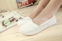 autumn new women casual Flat shoes  Canvas shoes  women  white shoes European size: 35-40.