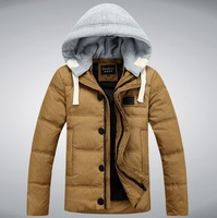 2014 Men's Down jacket With Hood 90% Duck Down Winter Overcoat Autumn Outwear Winter Coat Free Shipping 9006