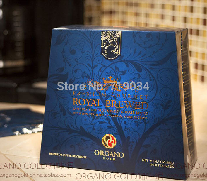 Canada imported organic Ganoderma Coffee Gold OG Europe - Featured royal cook ground coffee 180g(10 packs)(China (Mainland))