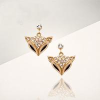 South full of rhinestone fashion lady fox hanging shiny rhinestone earring pendant earrings sexy seductive berserk 1pcs