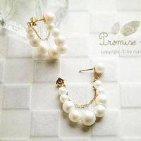On sale jewelry wholesale pearl earrings noble string tassel jewelry wholesale earrings