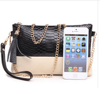 New color surge Jurchen leather handbag ladies small satchel women's clutch bag banquet handbag