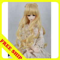 Bjd/sd doll wigs golden curly hair with the 1/3 1/4 1/6