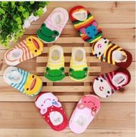 Children's cartoon cute style lace socks non-slip socks baby socks relent kids socks