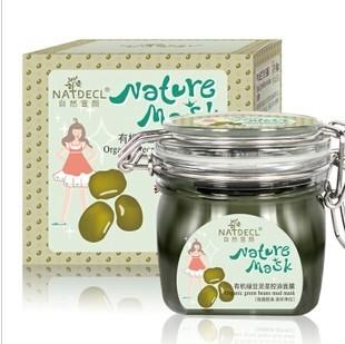 Envío gratis 2014 natural de frijol verde máscara de barro crema de aceite de control de acne hidratante y blanqueamiento astringe poros no- limpio crema máscara