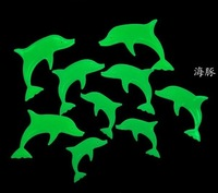 45pcs  free shipping Dolphin  Glow in the Dark Luminous Fluorescent Plastic Baby Wall Stickers Decoration for kids rooms