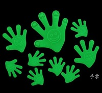 45pcs hands Glow in the Dark Luminous Fluorescent Plastic Baby Wall Stickers Decoration for kids rooms free shipping