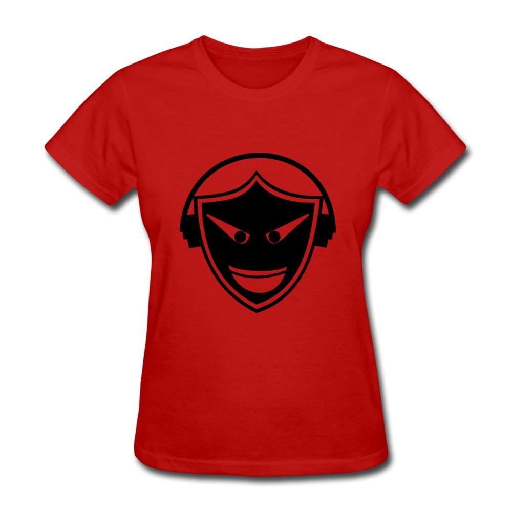 2014 Original Solid T-Shirt Women's Headphones skull skull tongue music Printed Picture Woman T-Shirts Short-Sleeve(China (Mainland))