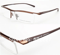 New Unisex Fashion Half RIMLESS Eyeglass Frames Luxury Design TR90 P8189 Coffee Color with Retail Box Free Shipping Wholesale