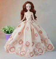 Handmade Cotton Fabrics Dress Clothes For Barbie Dolls