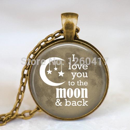 Цепочка с подвеской OEM I Love You to The Moon and Back подушка printio love you to the moon and back