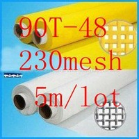 "90T 230mesh polyester silkscreen printing mesh 90T-48  width:127cm (50""), 5 meters long ,white color and free shipping"