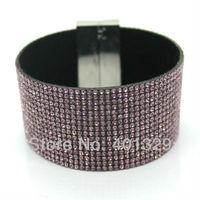 2014 Fashion Personality Magnetic Buckle Bracelet  Joker Pop Punk Bracelet With Free Shipping
