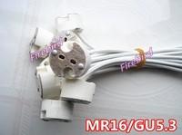 10 x MR16 lamp holder, GU5.3 led socket, white color ceramic show lamp bases, free shipping