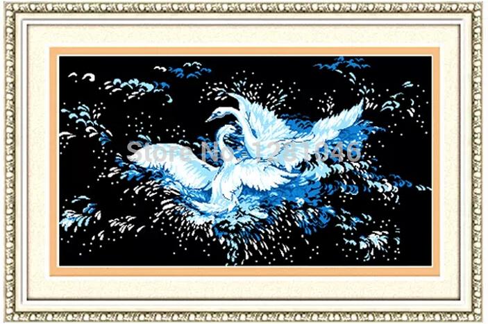Europe animals painting Geese 5d diamond painting DIY round diamond embroidery cross stitch kits decoration kids Free shipping(China (Mainland))