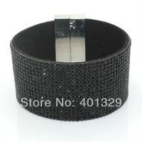 Manufacturers Wholesale Magnetic Buckle Bracelet Popular Men's Vintage Black Bracelet Charm Bracelet With Free Shipping