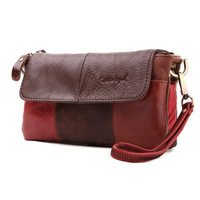 2014 New Fashion Style Genuine Leather Cowhide Brand Wrist Bags For Women Clutch Bag Purse Lady's Small Shoulder Bag Wristlet