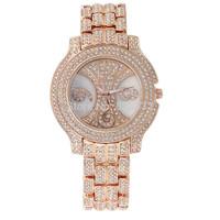SUPER Full Diamond Fashion GOLD luxury rhinestone WOMEN DRESS quartz Jewelry Bracelet stainless steel WristWatch Relogio