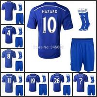 Top 3A+++ 14/15 Chelsea home soccer jersey short sock,2015 Chelsea customize LAMPARD DAVID LUIZ OSCAR  HAZARD TORRES DIEGO COSTA