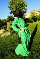 2014 New Arrival Hot Sale Women's Fashionable Graceful Bohemian Style Long Sleeve Chiffon Dress Black/Beige/Green/Blue/Pink