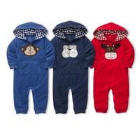 brand autumn -winter baby boy&girl Long sleeve romper /newborn toddler clothing/Wholesale kids cute warm bodysuits free shipping