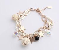 multilayer crystal bracelet lovely star  wholesale price