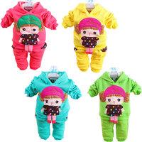 Retai ~ New baby girls hoodies striped skirt pants leggings 2pcs clothing sets minnie kids cartoon suits, 1set