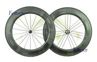 HED . U Shape!88 90mm carbon wheels,700C road bike Clincher wheelset,powerwayR36, Basalt,Ceramic,free shipping
