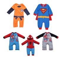 Children's clothing autumn 2013 baby clothes baby super man style newborn bodysuit long-sleeve