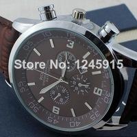 2014 international top brand men's apparel quartz watches, men's business watch, leather strap fashion wristwatches , Relogio