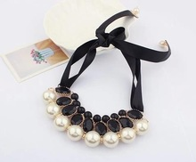 2014 new fashion chunky pearl necklace for women brand vintage jewelry accessories statement choker necklaces wholesale