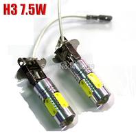 2pcs/lot High power 7.5W Super Bright White DC 12V H3 LED Bulb Car Fog Light Daytime Running Driving Lamp