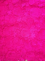 Free shipping! 2014 new arrival african water soluble chemical cord lace fabric guipure lace fabric for wedding GH2002 fushia