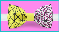 Original Design Geometric charm bow tie groom dress tuxedo silk ribbon bow tie Valentine's gift for man party bow tie party tie