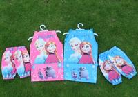 Wholesale Children/kids/girls/boys cartoon FROZEN waterproof apron set/ pinafore set/ pinny and oversleeue