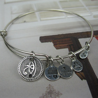 Alex and Ani style eye Silver Plated Alloy Charm Bracelets and Bangles for girls Free Shipping