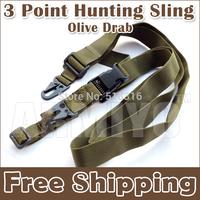 Armiyo 3 Point Adjustable Bungee Camera DV machine Strap Wrap Ring Sling System Three Point Sling Olive Drab Free Shipping