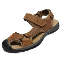 Male outdoor sandals sports  breathable genuine leather cowhide personality the trend Free shipping