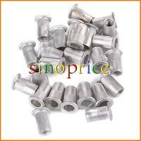 25pcs Flat Head Aluminum M5 Rivet Nut Rivnut Nutsert (Silver) Free Shipping