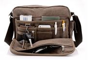 New arrival multi-function brand high quality canvas bag leisure travel bag men messenger bag shoulder bag