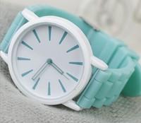 2014 new fashion Classic Geneva Silicone quartz Watch Jelly women Rhinestone dress relogio feminino watches free shipping