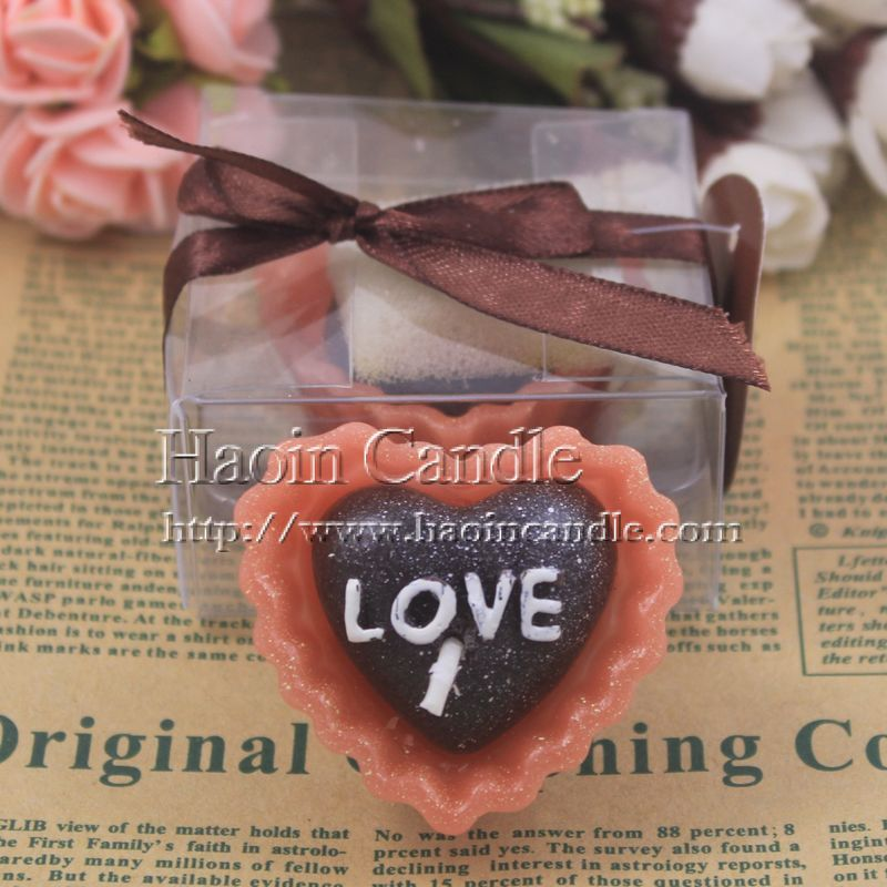 Free shipping 6PCS Heart love chocolate candle romantic birthday bundle candle Birthday Gift Candles from Actor Candle Supplier(China (Mainland))