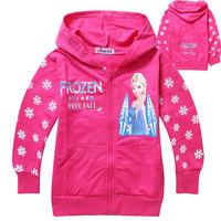 Newest frozen girls hoodies long sleeve frozen princess children sweatshirts,fashion 2014 baby kids outerwear jacket coat