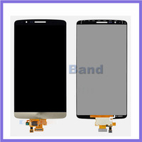 5pcs/lot 100% Work Original White Gray Gold  LCD Display+Touch Screen Digitizer For LG G3 D850 D851 D855 VS985 LS990