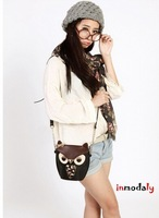 2014 Free shipping new products women messenger bags leather cartoon bag owl fox for women handbags