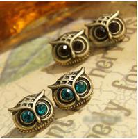 YBB B2019 Fashion Delicate Retro Big Eyes Owl Studs Earrings Korea Jewelry Wholesale