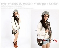 Free shipping new products 2014 women leather cartoon bag owl fox women messenger bags